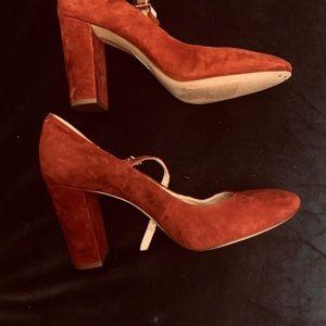 Louise et Cie- suede shoe color-Merlot